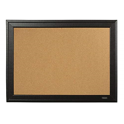 Cork Bulletin Board Black Frame For Small Home Office Use Me