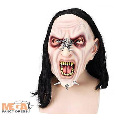 Pierced Monster Mask Mens Fancy Dress Halloween Horror Rockstar Adult Costume Ac