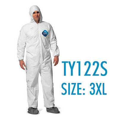 Dupont Tyvek Coverall Bunny Suite With Hood And Boots - Ty122s Size 3xl