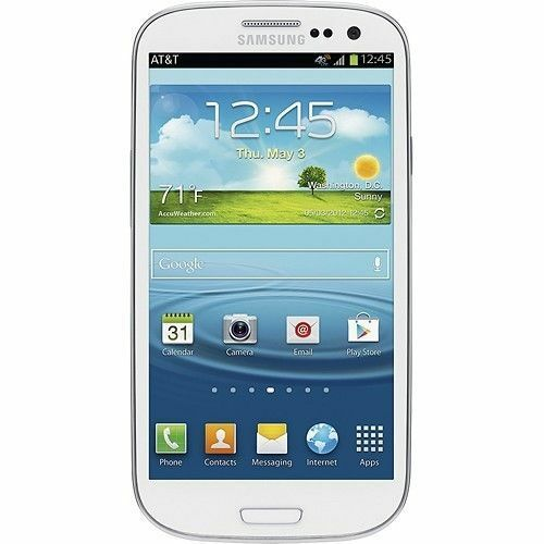 $124.99 - New Samsung Galaxy S3 SGH-I747 AT&T Unlocked GSM 4G 16GB Android Phone White