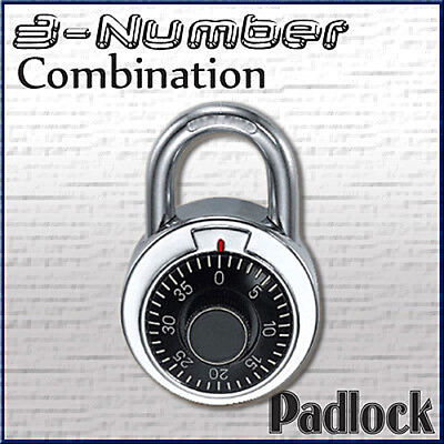 Combination Lock Dial Padlock Hardened 50mm Steel Gym Locker Bike School Bu-413l