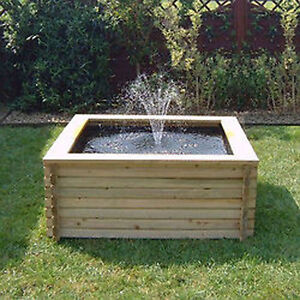 Square raised garden pool 60 gallon liner pump fish Raised ponds for sale