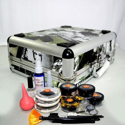 Full Extension Kit (Professional False Eyelashes Extension Kit Eye Lash Full Tools Kit Set With Case)