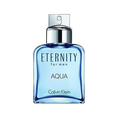 Eternity Aqua 캘빈 클라인 3.4 oz EDT 쾰른 남성용 신규 테스터