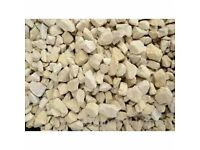 cotswolds cream 20mm decorative gravel at £3 per 20kg bag