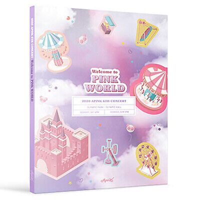 APINK 2020 6TH CONCERT WELCOME TO PINK WORLD DVD 2DISC+Book+Sticker+Photo+Poster