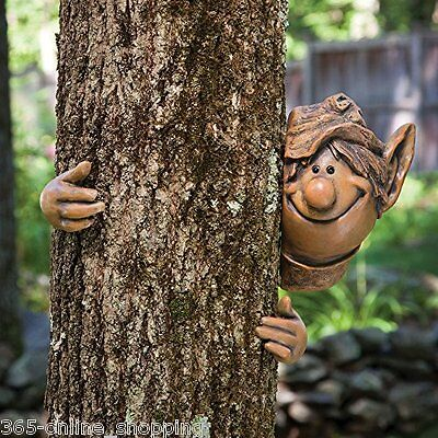 Fairy Garden Elf Tree Peeker Garden Ornament Cheeky Garden Gnome Tree Decoration
