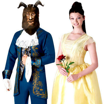 Beauty and the Beast Adults Fancy Dress Disney Princess Live Action Costumes New (Action Costumes)