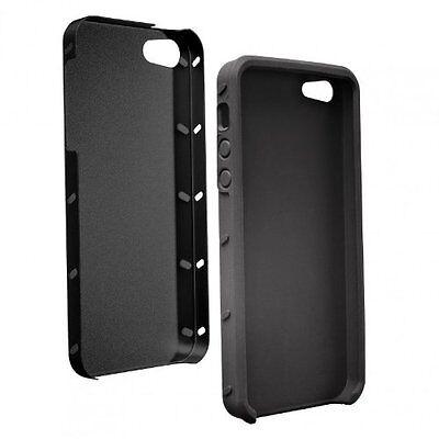 Etui aluminium avec garniture de protection en silicone pour iPhone 5/5S -Noir