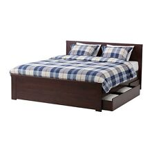Queen bed frame and mattress (Brusali range from Ikea) Pagewood Botany Bay Area Preview