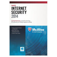 McAfee Internet Security 2014 - 3 Users - New