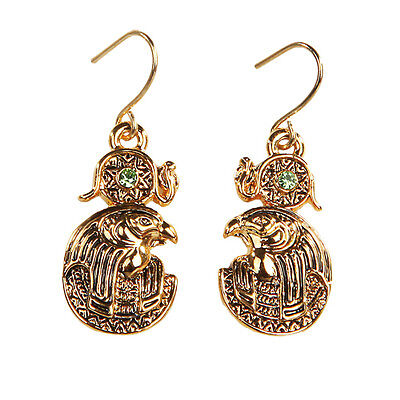 Egyptian Ra Re Solar Deity God Earrings Set of 2. Ancient Egypt Fashion Jewelry
