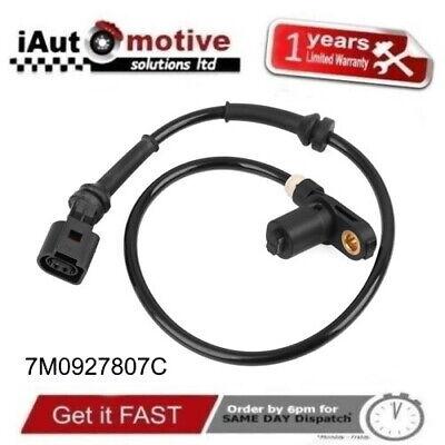 New Front ABS Wheel Speed Sensor FORD Galaxy VW Sharan SEAT Alhambra 7M0927807C