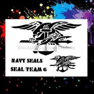 Navy Seals Set Airbrush Stencil,Template Airbrush Stencil Set
