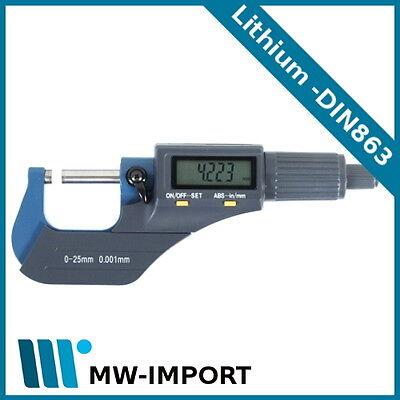 Digitale Bügelmessschraube METEHA 0-25 mm Digital Mikrometer Messchraube Lithium
