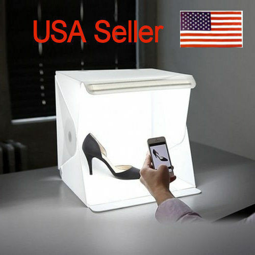 USA FREE SHIPPING Photography Lighting Tent Kit Backdrop Cube Mini Box Stand
