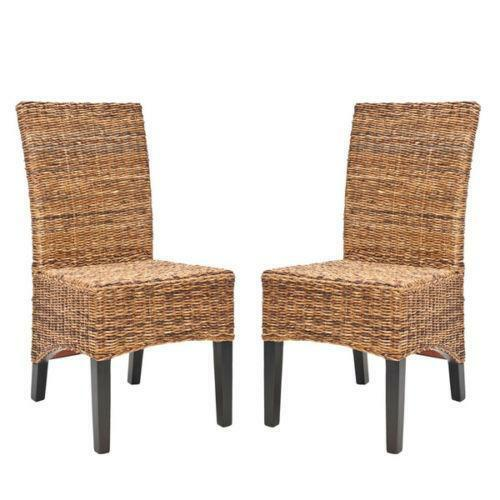 Wicker dining chairs ebay for Wicker dining room chairs