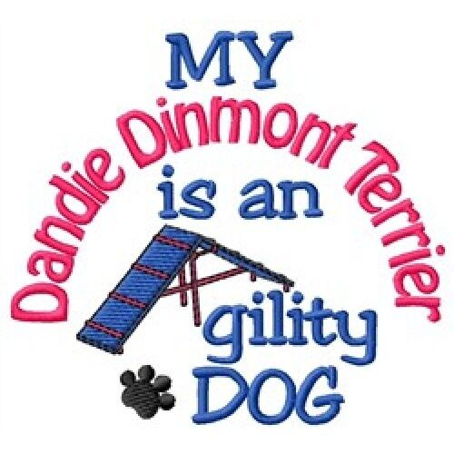 My Dandie Dinmont Terrier is An Agility Dog Short-Sleeved Tee - DC1948L