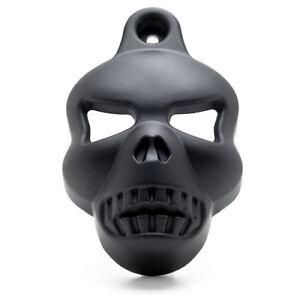 Black Aluminum Skull Horn Cover Cowbell For Harley 1992 - 2012 EVO Big Twins Cam