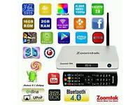 NEW 2016 ANDROID TV BOX SUPER HIGH SPEC ZOOMTAK T8H 16GB 2GB KODI SPORTS MOVIES TV SHOWS