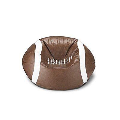 vinyl football shaped bean bag chair ideal