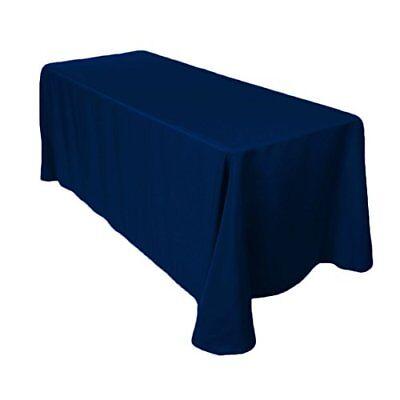 "Gee Di Moda Rectangle Tablecloth - 90 x 132"" Inch - Navy Blu"
