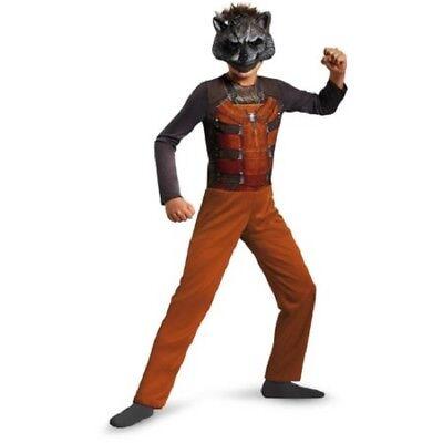 Waschbär-halloween-kostüm (Guardian's Of The Galaxy Rocket Waschbär Halloween Kostüm Size 6, Klein #7525)