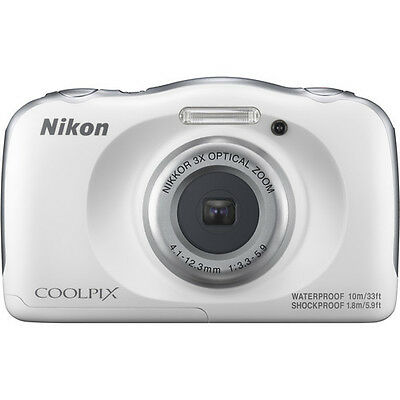Nikon - Coolpix W100 13.2-megapixel Digital Camera - White