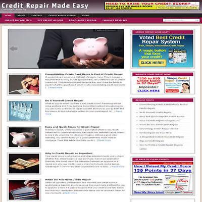 Established Credit Repair Affiliate Website Turnkey Business Free Hosting