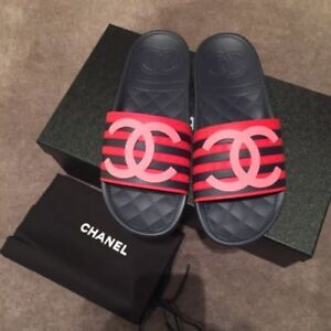 Chanel Slides. Authentic. New never worn.