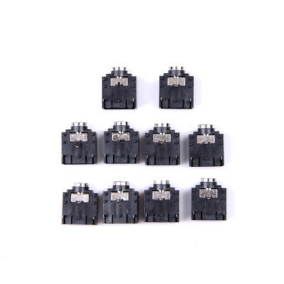 New 10 Pcs 3 Pin PCB Mount Female 3.5mm Stereo Jack Socket Connector