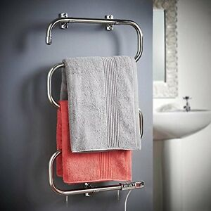 Electric Towel Rail Rack Bathroom Warmer Radiator Wall Mount Stand Dryer Shower Ebay