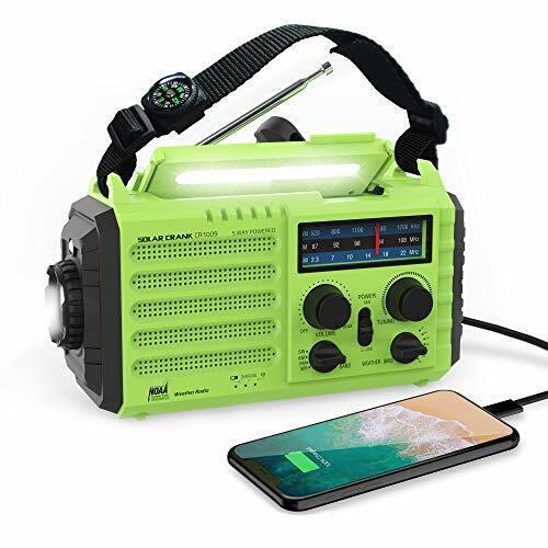 Onlyee Emergency Solar Hand Crank Portable Radio, NOAA Weather Radio For Househo - $44.33