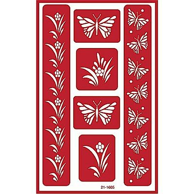 Over n Over Reusable Self Stick Reusable Glass Etching Stencils ~ BUTTERFLY
