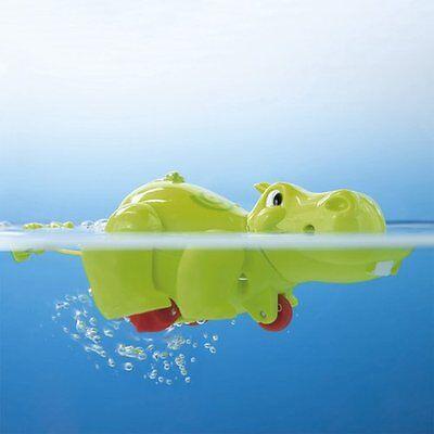 BABY-WALZ Badespielzeug Aufzieh-Nilpferd Wasserspielzeug NEU grün