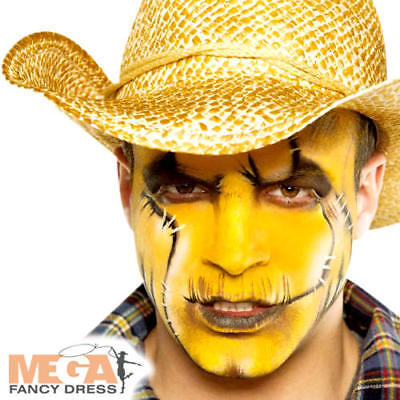 Yellow Cream Make Up Fancy Dress Halloween Spooky Kids Adults Costume Face Paint