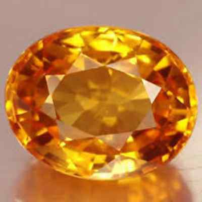5.37 CT EXCELLENT LUSTER BEAUTIFUL NATURAL YELLOW SAPPHIRE CERTIFIED GEMSTONE