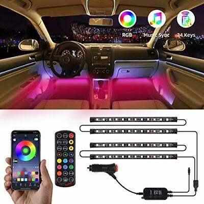 Car LED Strip Lights by APP Control, Govee 48 LED Car Interior Lights Music Dash
