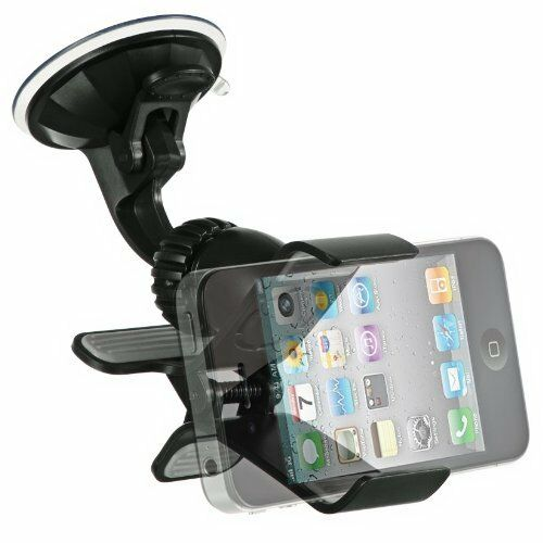 Windshield / Dashboard Car Mount Cell Phone Holder for Apple