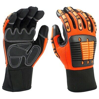 GS11-3XL Impact Glove Synthetic Leather Palm Anti Vibration Patch Mechanic style Synthetic Leather Palm Gloves