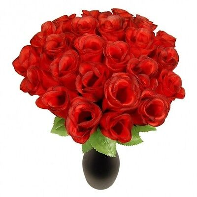 288 x rote ROSEN Kunstblumen Rosenknospen, Tombola, Wurfmaterial, Valentinstag