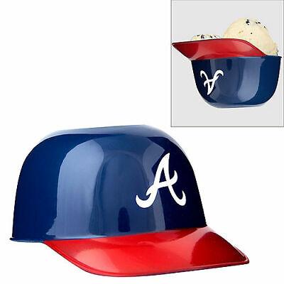 MLB Atlanta Braves Mini Batting Helmet Ice Cream Snack Bowls Single