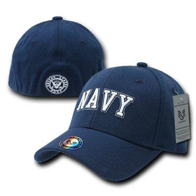 US NAVY United States Navy Military Operator Flex Fit Baseball Hat - Navy Flex Fit Cap