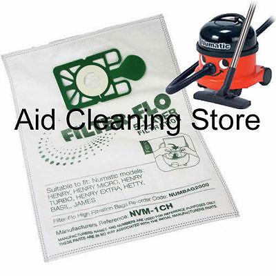 5 x Numatic Henry Hetty HEPAFLO Hoover Bags Vacuum Cleaner Cloth Hepa Flo Bag