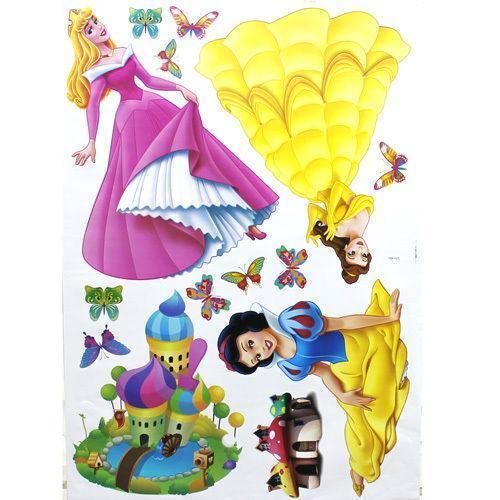 Disney Princess Large Wall Stickers Ebay
