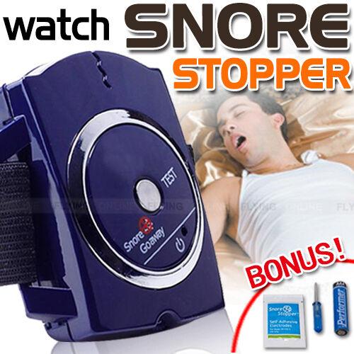 SNORE STOPPER Anti Snoring Wrist Bracelet Watch Device Sleeping Aids Cessation