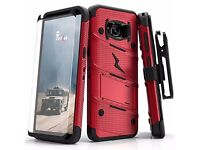 Samsung Galaxy S8 plus Zizo Bolt military grade drop tested case +tempered glass Ultimate protection