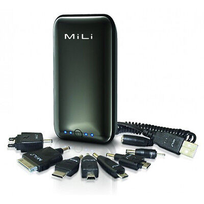 MiLi Black Power Miracle External Power Bank W Usb Cable ...