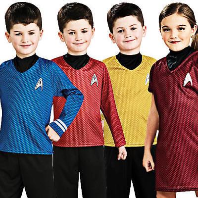 Star Trek Kids Fancy Dress Sci Fi Trekky Uniform Boys Girls Child Costume Outfit