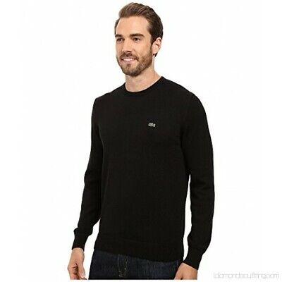 Lacoste Segment One Crew Neck Sweater # AH1900 51 5EN Black Men SZ S - XL